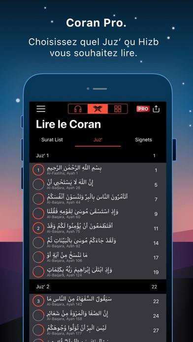 Screenshot for Coran Pro Muslim en Français in France App Store
