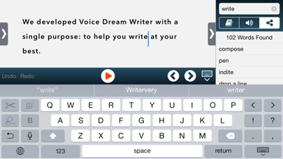 Voice Dream Writer iPhone