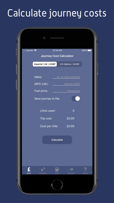 JourneyCalc - Cost Calculator screenshot one