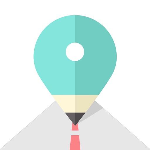 ポジメモ - 地図に貼る予定メモ/日記アプリ -