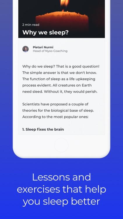 Nyxo: Sleep coaching screenshot-3