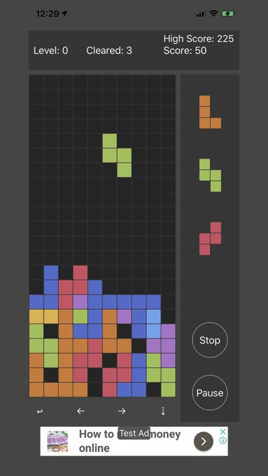 Tetris Mini screenshot 2