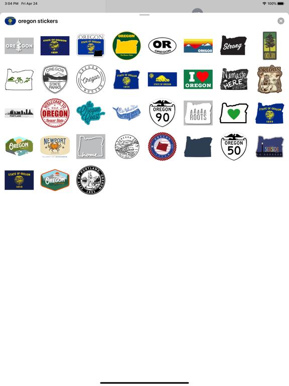 Oregon emojis - USA stickers screenshot 4