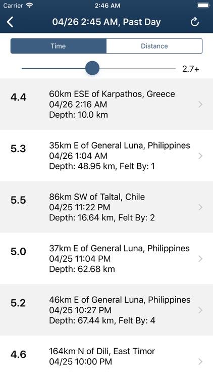 Earthquake Monitor screenshot-6