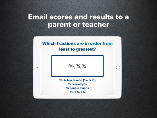 4th Grade Math Practice Screenshots