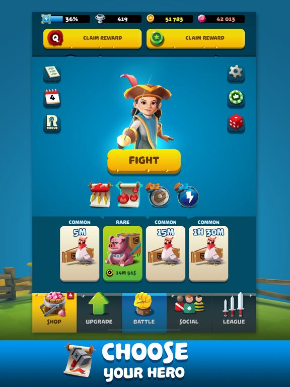 Ipad Screen Shot Knockdown Heroes 1