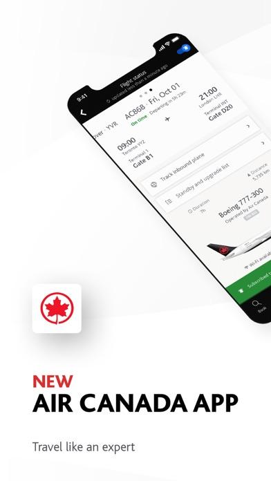 Air Canada screenshot one