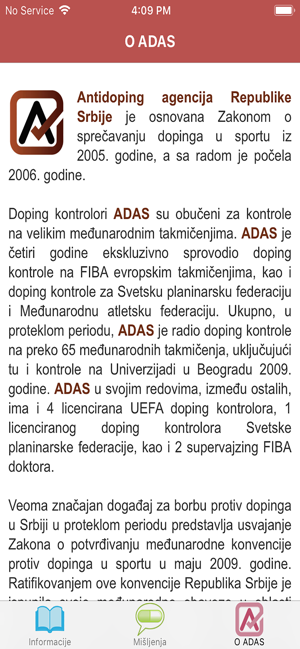 ‎ADAS za sportiste Screenshot