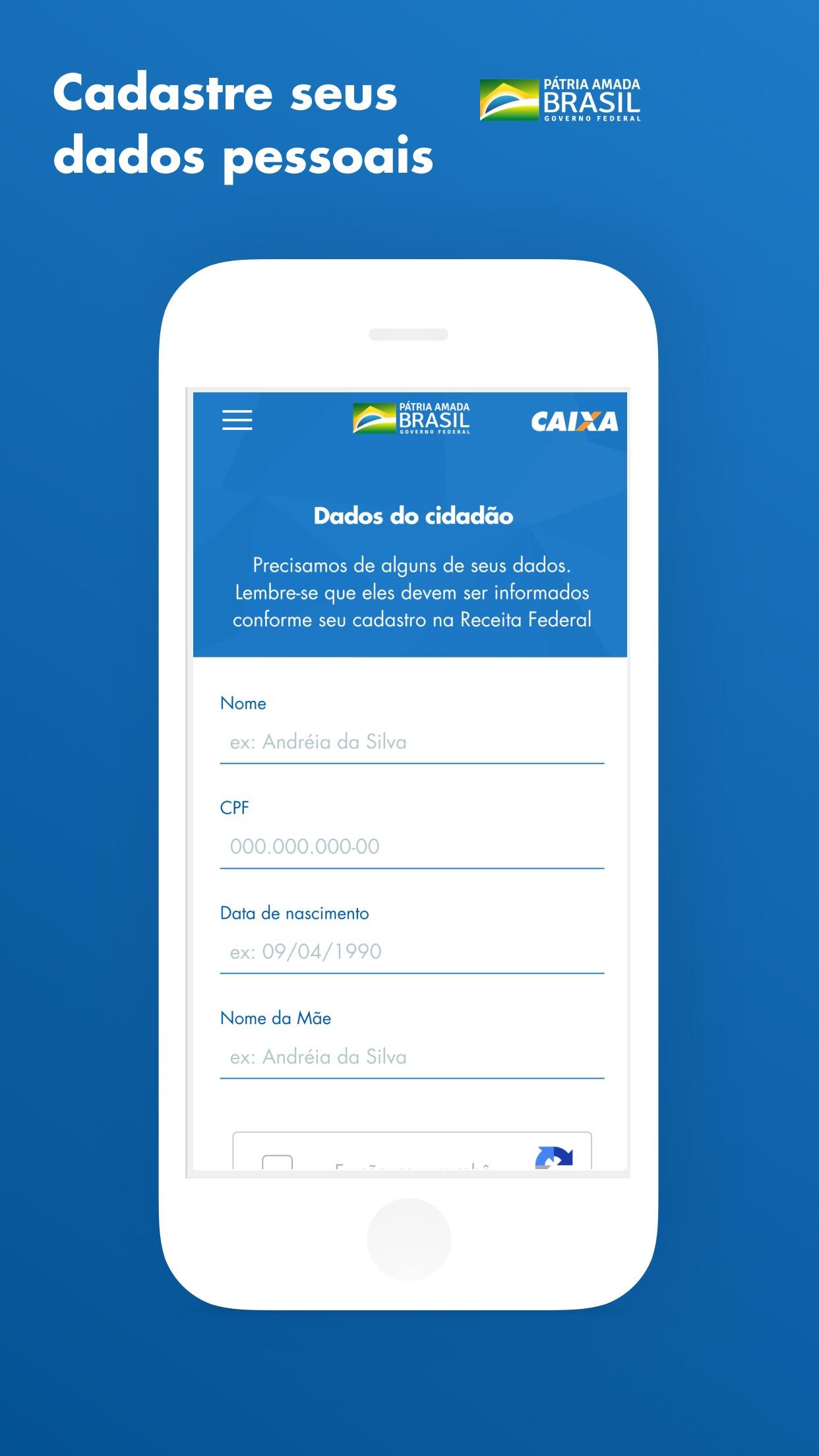 Screenshot do app CAIXA | Auxílio Emergencial