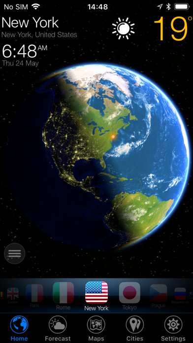 Screenshot #1 pour 3D Earth - widget météo