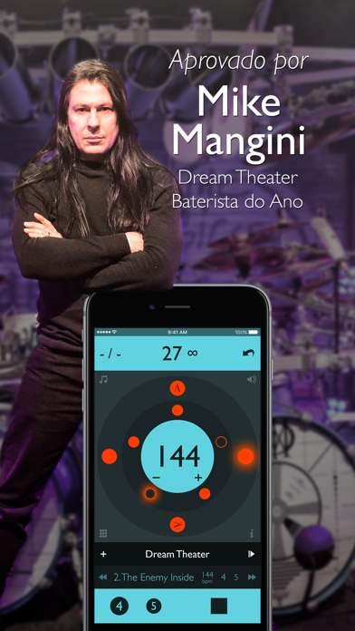 Screenshot for Tempo Advance - Metrônomo in Portugal App Store