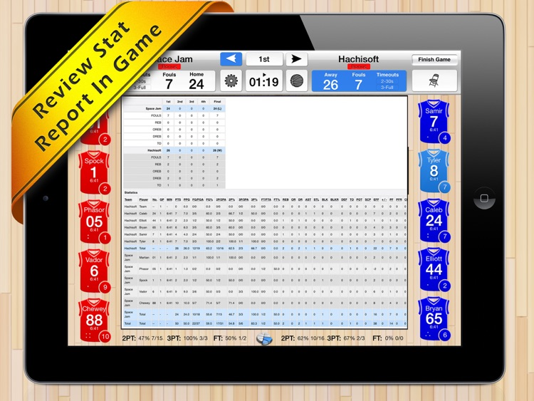Basketball Stat Tracker HD screenshot-2