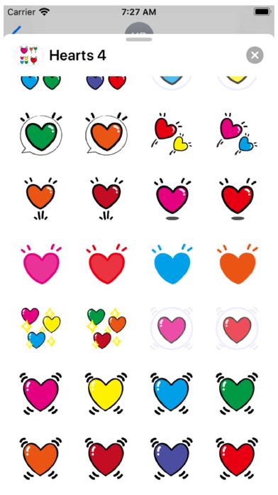 Hearts 4 Stickers Screenshot