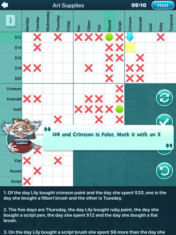 Logic Puzzles Daily - Solve Logic Grid Problems and Be a Puzzler Egghead screenshot