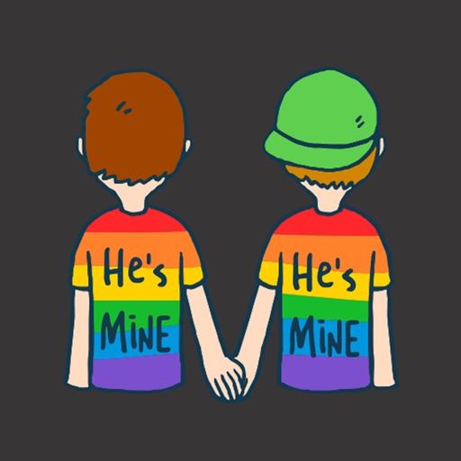 He's Mine Gay Stickers