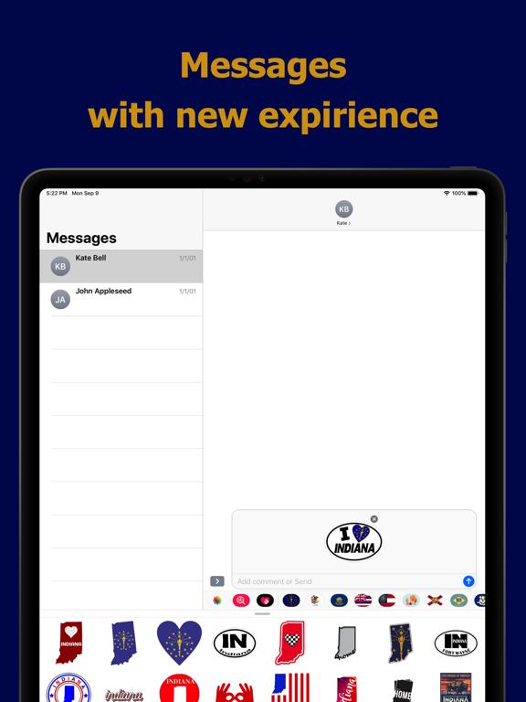 Indiana emojis - USA stickers screenshot 8