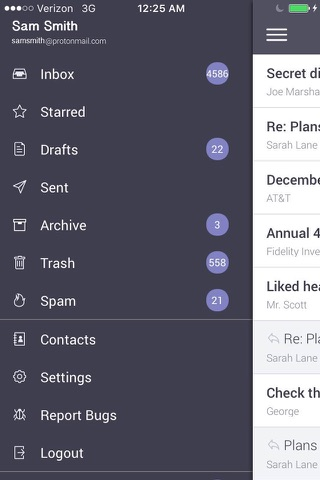 ProtonMail - Encrypted Email - náhled