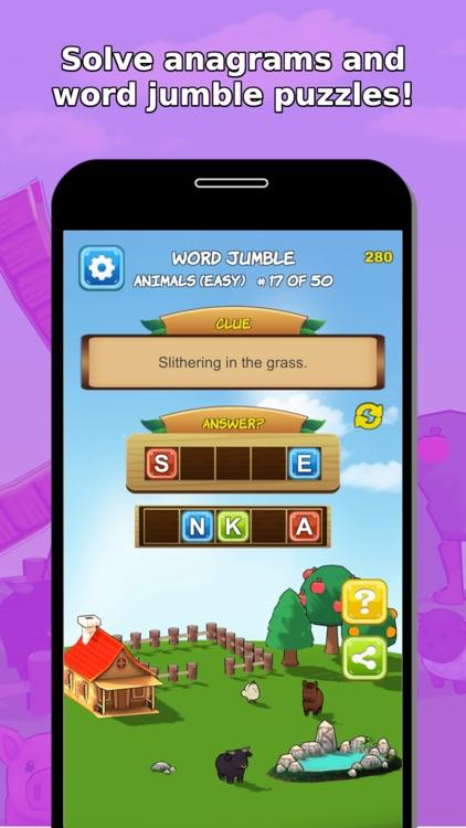 Word Jumble Farm screenshot-4