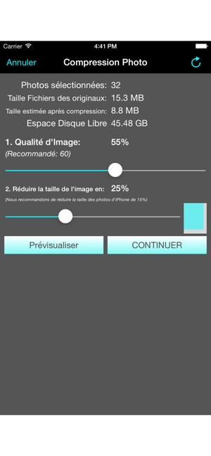 Compression Photo Dans L App Store