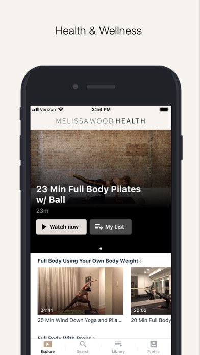 Melissa Wood Health Screenshot