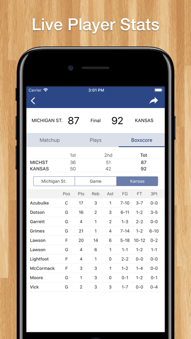 Scores App: College Basketball screenshot four