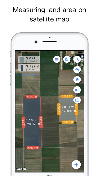 Planimeter Pro for map measure Screenshots