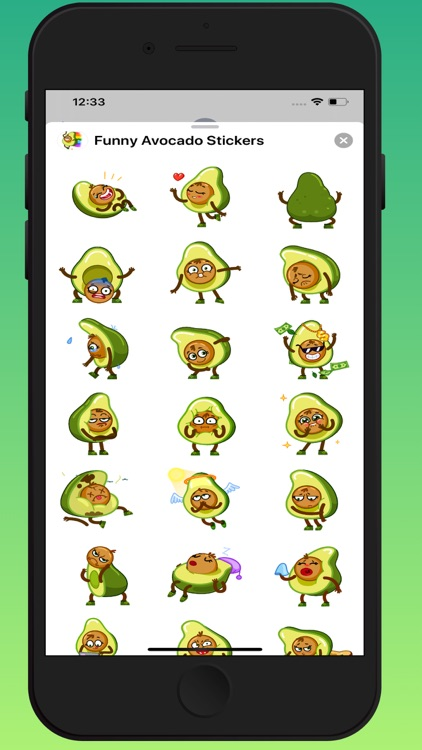 Funny Avocado Animated Sticker screenshot-3