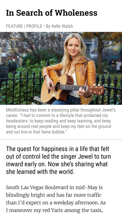 Mindful Magazine review screenshots