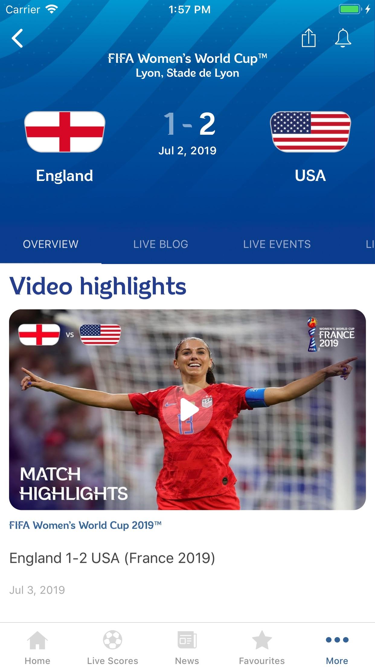 FIFA - Soccer News & Scores Screenshot