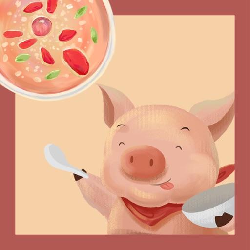 Merry doodle pig