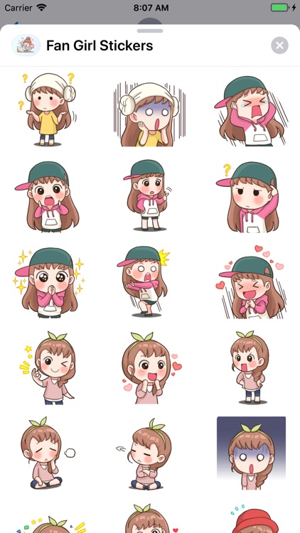 Fan Girl Stickers