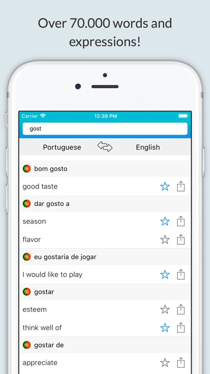 English-Portuguese Dictionary+