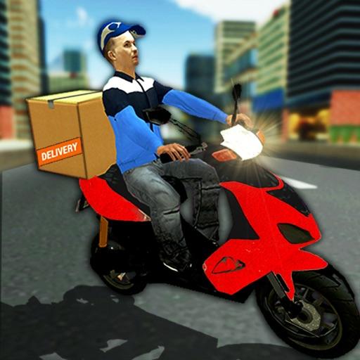City Courier Moto Delivery icon