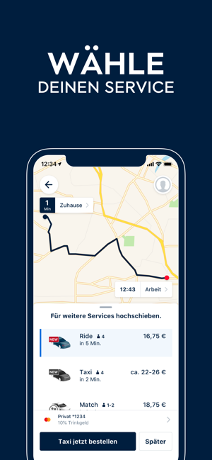 ?FREE NOW (mytaxi) Screenshot