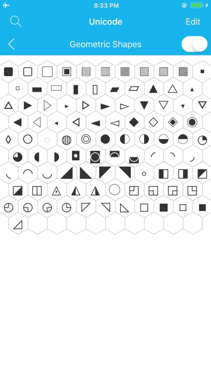 Unicode Map and Code Table