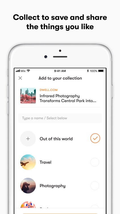 Mix - Discover, Collect, Share
