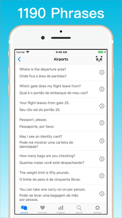 Learn Portuguese + screenshot-3