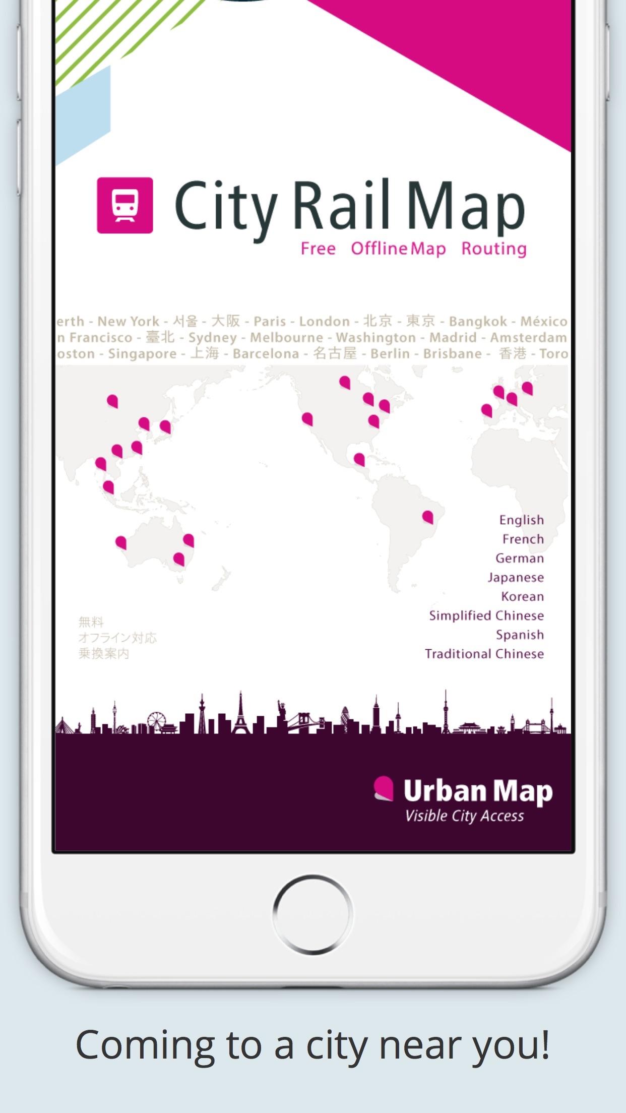 Screenshot do app City Rail Map - Travel Offline