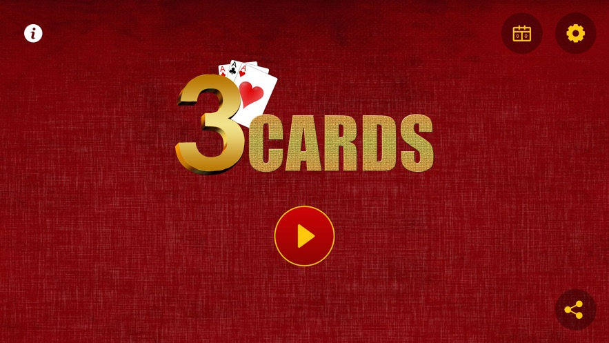 3 Cards Game App 截图