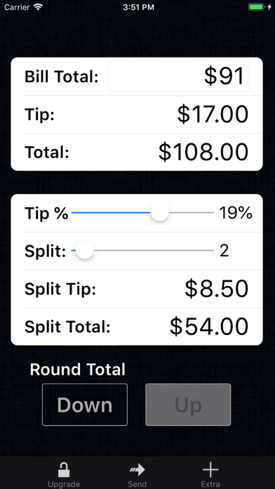 Tip Calculator % Gold