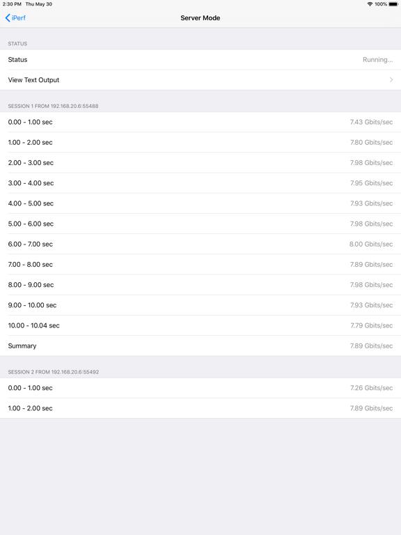iPerf - Speed Test Tool Screenshots