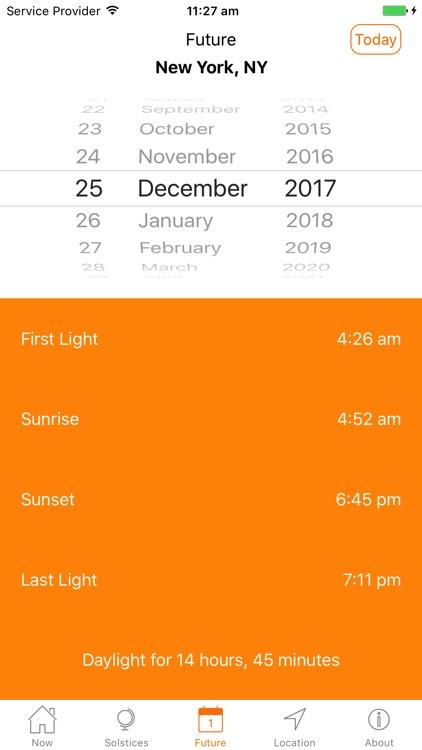 Sunrise Sunset Times screenshot-4
