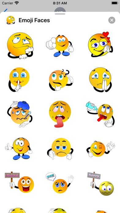 Emoji Faces Sticker Pack screenshot 2