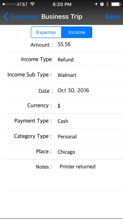 Expense Income Recorder Flexi screenshot-3