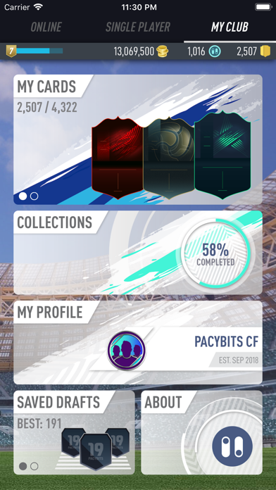 Screenshot for PACYBITS FUT 19 in Brazil App Store
