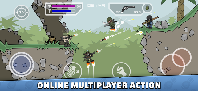 ‎Mini Militia - Doodle Army 2 Screenshot