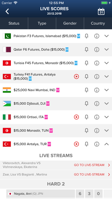 ITF Live Scores screenshot two