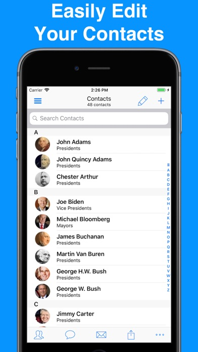 A2Z Contacts - Group Text App screenshot two
