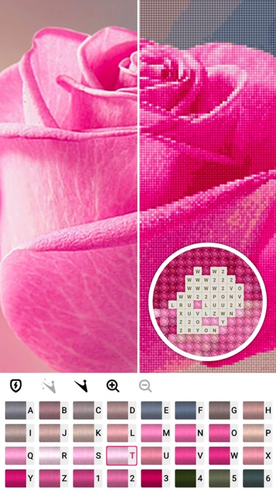 Cross stitch : Color by Letter Screenshot