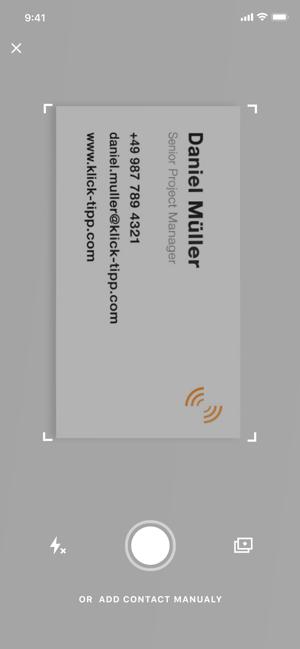 Klick Tipp Businesscardreader Im App Store